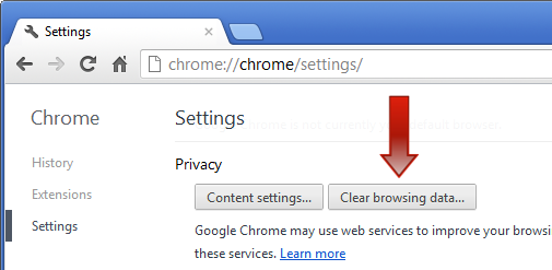 google chrome clean cache