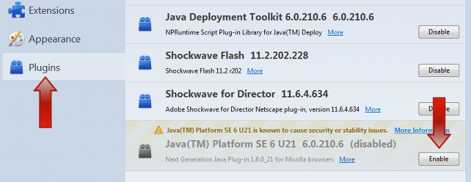 Skillsoft Self-Help - Enabling the Java plugin for Firefox