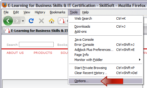 Skillsoft Self-Help - Firefox Optimization Instructions